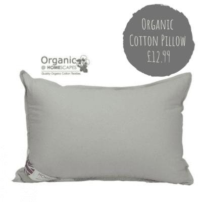 Organic cotton pillowcase