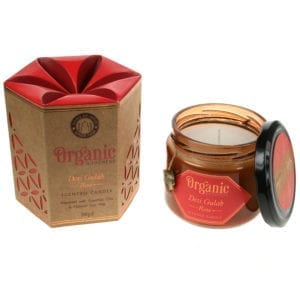 Organic Scented Soy Candle - Rose