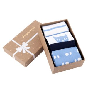 Blue Patterned Socks Set of 3 in box