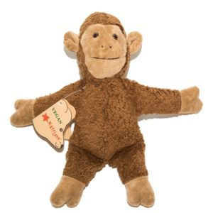 Soft toy Archie Ape, organic cotton plush